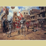 The Battle of St. Albans Medieval Art Print STA-30