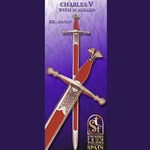 Emperor Charles Quint Sword, with Scabbard of Chrome Plated Iron TS-150-N-CV
