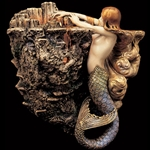 Sea Fire Mermaid Wall Sconce