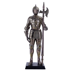 Miniature Armored Knight Statue