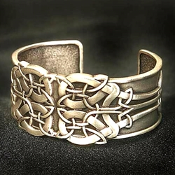 Celtic Knot-Work Bracelet in Pewter 200692