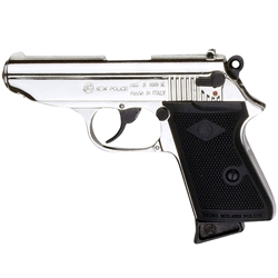 Bond Style Semi Automatic Blank Firing Gun Nickel 8mm 24-38007