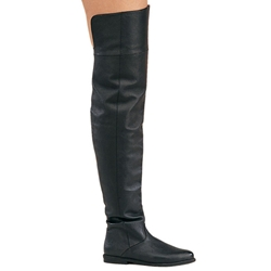 Ladies Black Raven Pirate Boots