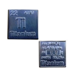 Periodic Table Bullion Titanium Square