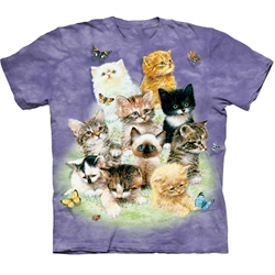 10 Kittens Adult Plus Size T-Shirt  43-1010800
