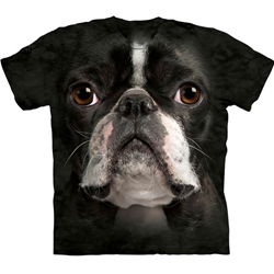 Boston Terrier Face Adult T-Shirt 43-1033670