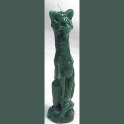 Green Cat Candle 45-CCATG