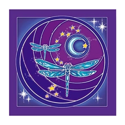 Dragonfly Moon Wall Hanging