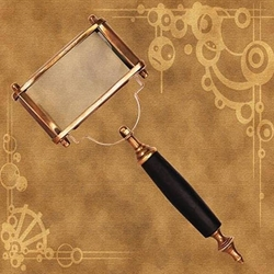 Large Steampunk Magnifier