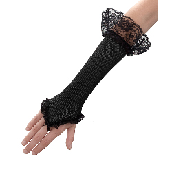 Black Mesh Fingerless Gloves 100-154871