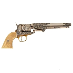 Colt 1851 Revolver Engraved Model Nickel Non-Firing