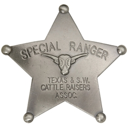 Special Ranger Western Badge Cattle