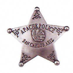 Apache Police Western Badge
