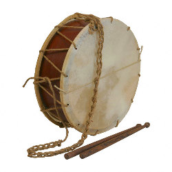 Medieval Tabor Drum 12 Inch with Sticks